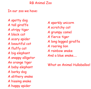 RB's animal poem