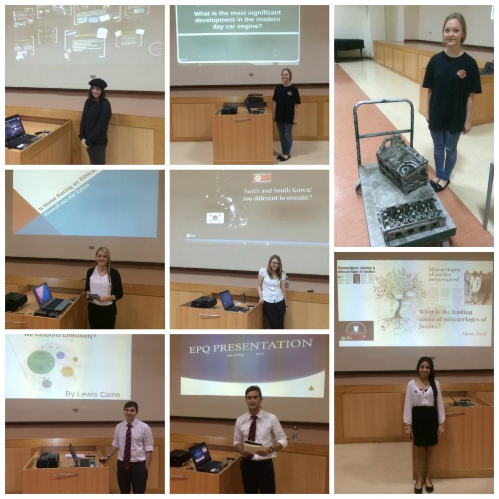Y13 EPQ Presentations