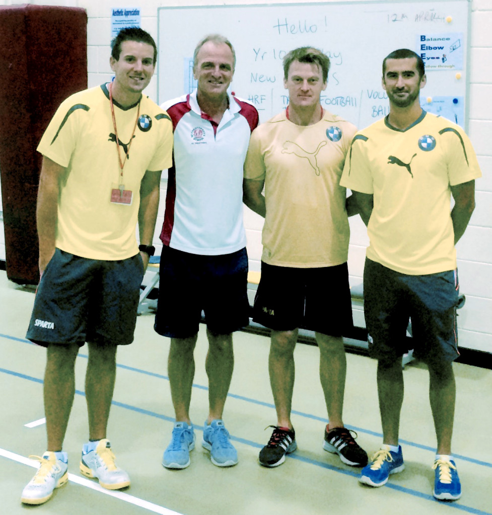 Fm Left: Simon Bourner (SPARTA Tennis Coach), Rob Subbiani (Head of PE Senior School), Gareth Holloway (SPARTA Director) and Adam Bussens (SPARTA Tennis Coach).