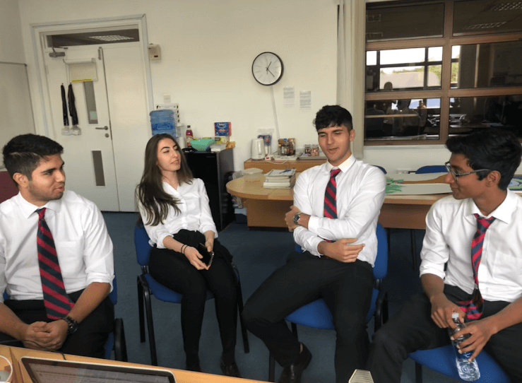 Leader of Year 13 Prefects: Here I am with my peers in the Student Leadership Team discussing our priorities for this year with our Head of Year Ms Al Hammoud. Although we all have our own individual thoughts, we collaborate and plan together ahead of our first big event, the Festive Fayre. I am also a member of our student Community Service Team this year. 'Think Pink Day' is coming up on Thursday 18 October, and I am spending time helping to plan activities and fundraising initiatives. Having a team of close friends makes it much easier to multi-task, and we all become closer friends by the end of it.