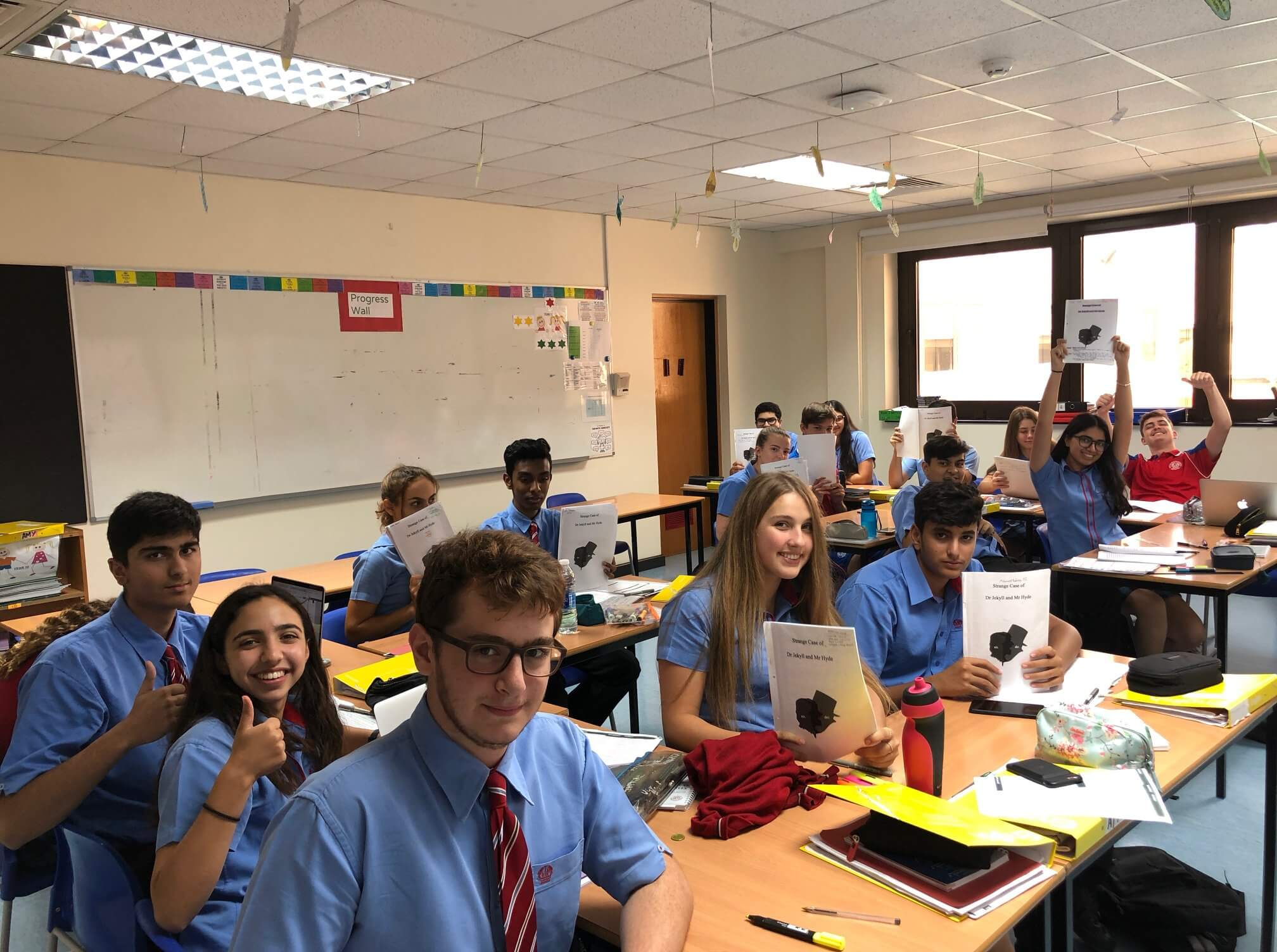 English Lesson:  'As a GCSE English student we have to take on an array of Literature through our course, this term we are all focusing on a 19th century novel, which for our class, is Dr Jekyll and Mr Hyde.'