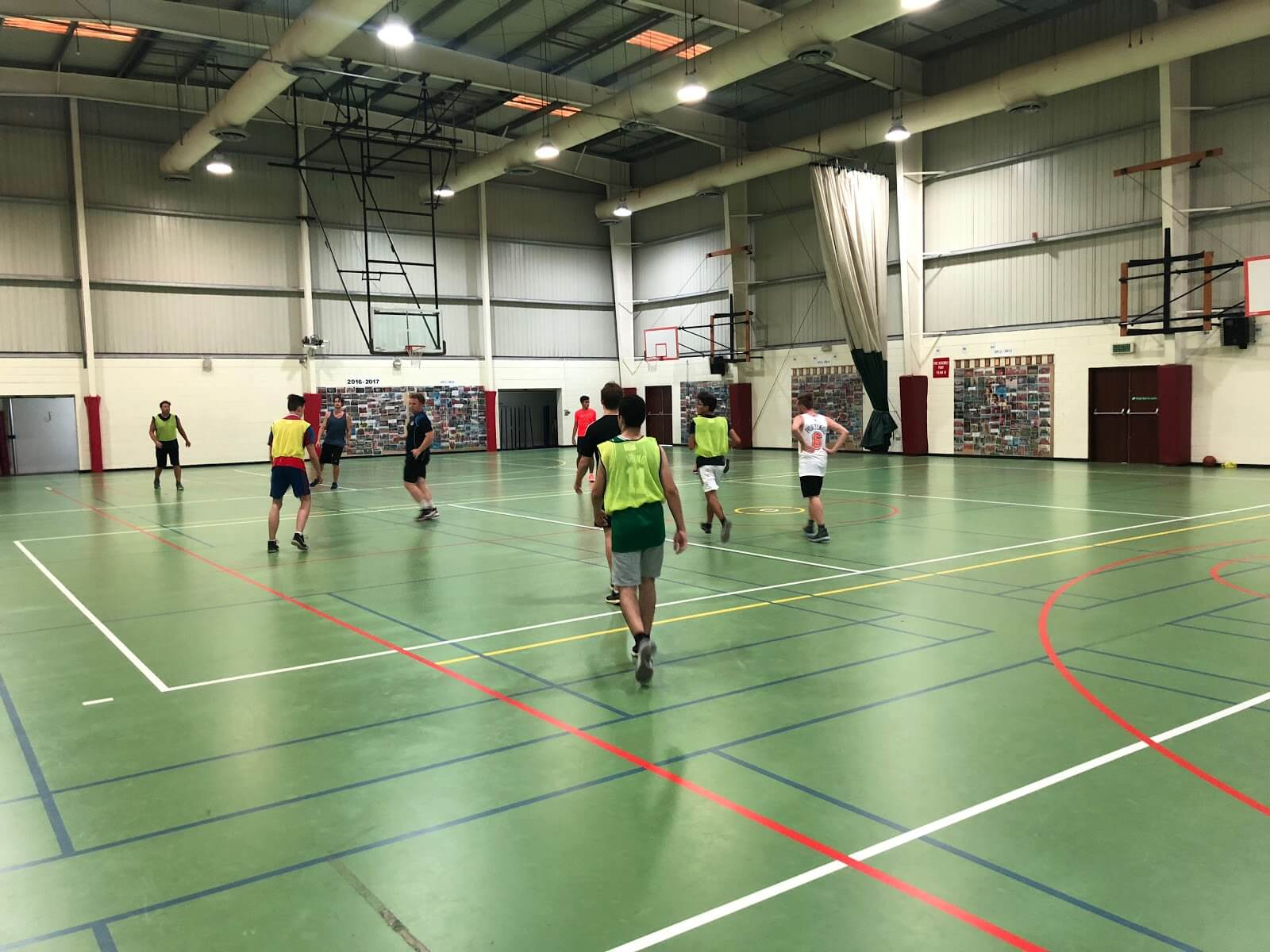 Students & Staff Basketball: The Sports Hall is also used for extra-curricular activities after school. Sometimes, at the end of the week, our teachers invite us to join them in a friendly game of basketball. This tradition has been ongoing since Year 12, even during the summer. This activity gave me the opportunity to create great friendships with the previous Year 13 group that would have never been possible otherwise. I've also gained a more personal relationship with teachers outside of our classroom.