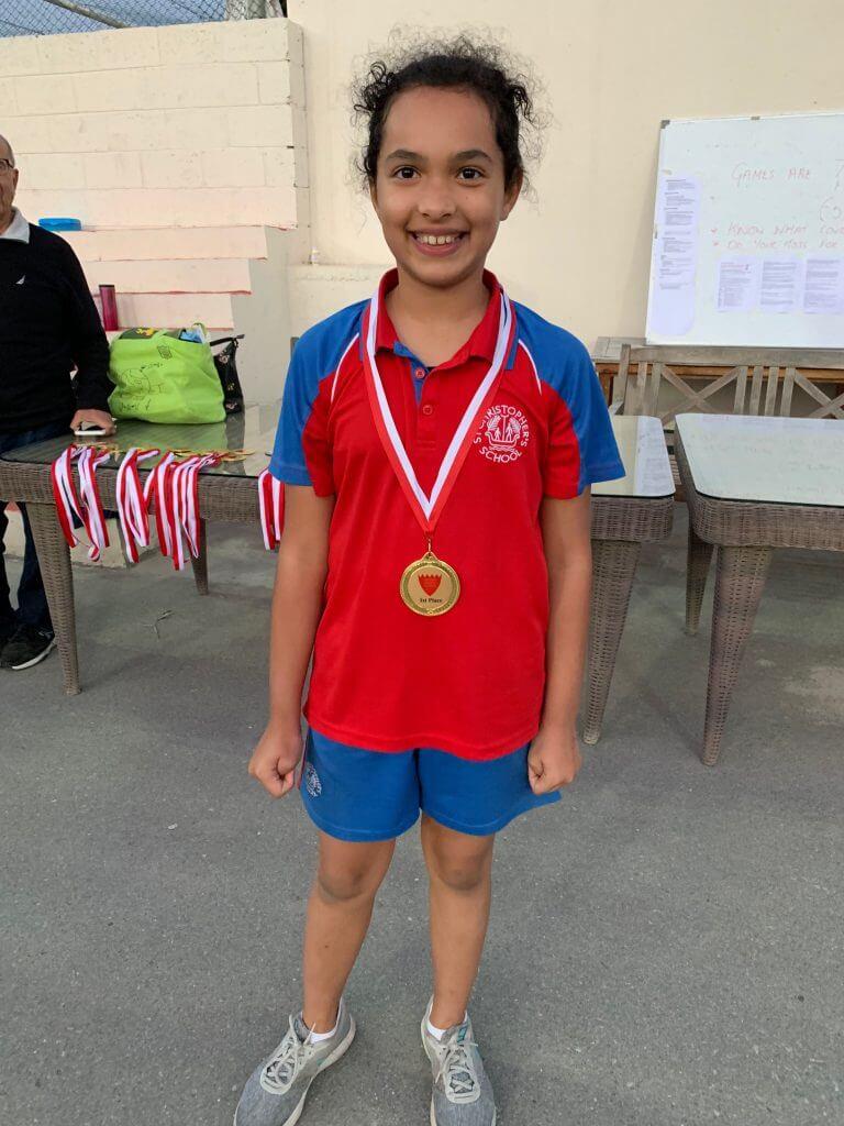 Sophie Player of the team medal - Rebecca Lambert