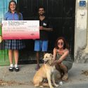 Charity presentation to Dog Father